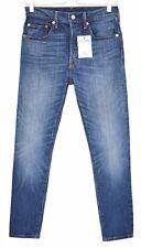 Levis 501S Skinny Jeans Azul High Rise Stretch Sobrealimentador Talla 8 W27 L30
