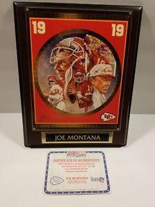 NFl Superstar Collectors Plaque Joe Montana