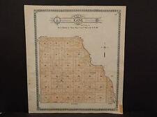 North Dakota Bottineau County Map Kane Township  1910 Q6#70