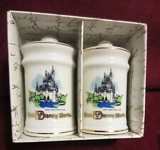 VINTAGE DISNEY WORLD SALT AND PEPPER SHAKERS NEW IN BOX