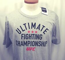 UFC Ultimate Fighting Championship Logo Gray T-Shirt New with Tags Size XL