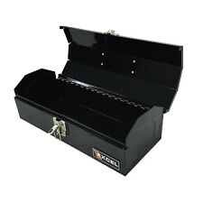 STEEL TOOL BOX Portable Garage Storage Tools Organizer Case Container Black