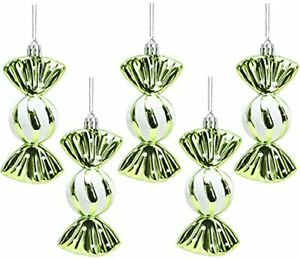 Christmas Concepts® Pack of 5-110mm Large Sweet Shaped Baubles-Lime Green(BA249)