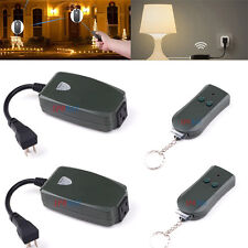 2pcs Outdoor Wireless Remote Control Ac Power Outlet Waterproof Switch Socket Us