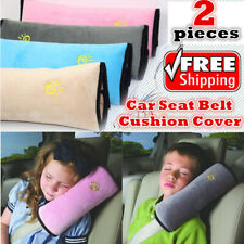 2x Kids Car Short Plush Seat Belt Shoulder Pad Cover Pillow Cushion Head Support
