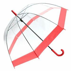 Regenschirm Transparent Durchsichtig Glockenschirm Kuppel Rot