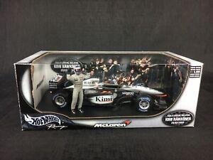 1:18 Hot Wheels 2003 Kimi Raikkonen McLaren MP4/17D #6 1st Win Malaysia 1/5000
