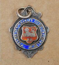 Argent Massif 7 émail watch fob Winstanley Charity Cup Comp 1911 Preston