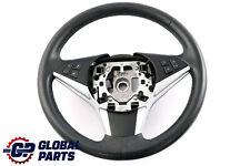 *BMW 5 6 Series E60 E61 E63 E64 Black Leather Sport Steering Wheel Trim