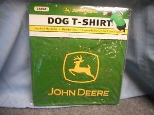 JOHN DEERE DOG COAT T-SHIRT PET CLOTHES SIZE L LARGE