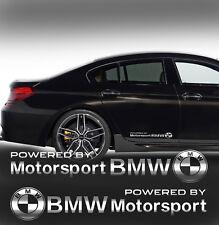 BMW Motorsport + BMW Logo Aufkleber Stickers 2 Stk.SPIEGEL CHROMEFFEKT Folie