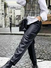 BNWT Zara Black Faux Leather Trousers Size XS