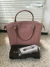 "NWT GUCCI Dome Microguccissima"" Soft Pink Leather Large Satchel bag"