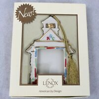 Lenox ABC School House Picture Frame Holiday Christmas Ornament with Box
