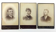 3 Real Photograph RP Antique Portraits Toronto Canada Q173