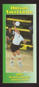 Oregon Ducks--1997 Volleyball Ticket Brochure/Schedule