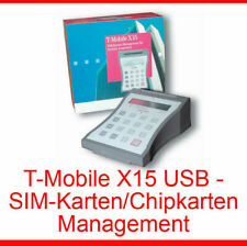 CHIPCARDREADER SIMCARD USB-ANSCHLUSSKABEL LES.-VERW. WIN XP VISTA 7 T-MOBILE X15