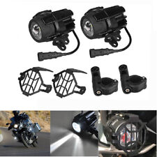 2x Spot LED Auxiliary Fog Light Safety Driving Lamp Motorcycle For BMW R1200GS A