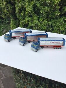 3 Vintage Major Ford Truck and Articulated Trailer. Express Service