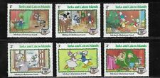 HICK GIRL- MINT TURKS & CAICOS ISLANDS STAMPS    DISNEY  CHRISTMAS '82    T222