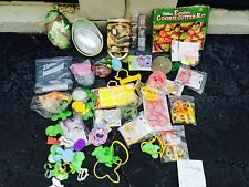 collection of Easter and springtime cookie cutters and pastry items