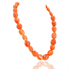 Outstanding Superb 679.60 Cts Natural Orange Carnelian Beads Necklace Strand