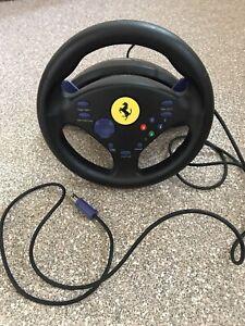 Nintendo game cube racing car game wheel thrust master