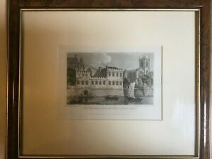 Engraving picture Art - York Guildhall coloured print N Whittock/WJ Cooke