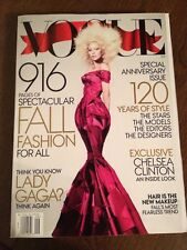 U.S. VOGUE MAGAZINE September 2012 Lady Gaga Cover 120th Anniversary Issue
