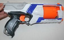 White NERF N-Strike ELITE STRONGARM 6 Shot Soft Dart Gun Blaster Toy