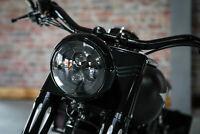 "7"" LED DAYMAKER für Harley Davidson FAT BOY Softail Heritage Deluxe  ""BLACK"""