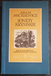 1954   SONETY KRYMSKIE Adam Mickiewicz   Paperback   antykwariat
