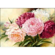 5D Diamond Painting Kits Full Drill Embroidery Decors Peony Flower DIY Gifts AU
