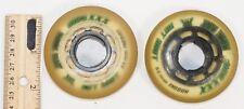 2 LOT - RINK RAT HOT SHOT XXX GRIP INLINE 64 MM INDOOR ROLLER HOCKEY WHEELS USED