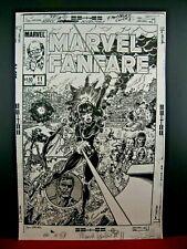 Marvel Fanfare #11 - Black Widow - Original Production Art Stats - George Perez