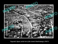 OLD LARGE HISTORIC PHOTO NAGASAKI JAPAN AERIAL VIEW OF CITY ATOMIC BOMB c1945 5