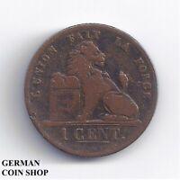Belgien 1 Cent 1845 Kupfer - Belgique Belgium
