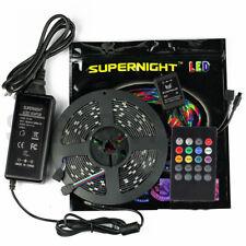 SUPERNIGHT® RGB 3528 LED Strip Light Waterproof 5M+20key Music Controller+ Power