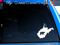 West Virginia Black Bear Hunting State Vinyl Decal Sticker/ Color-HIGH QUALITY
