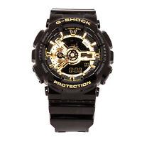 Casio G-Shock GA110GB-1A Gold Tone Black Magnetic Resistant Analog Digital Watch