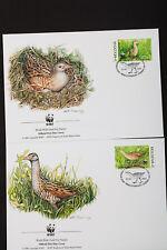 Moldova 2001 WWF Set of 4 FDC Postage Stamp Collection