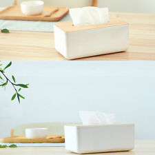 Plastic Home Room Car Hotel Tissue Box Wooden Cover Paper Napkin Holder Case SU