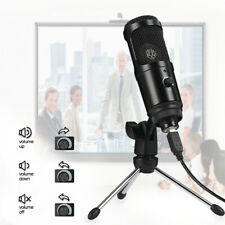 USB Condenser Microphone Cardioid Tripod for PC PS4 Skype Game Studio Recording