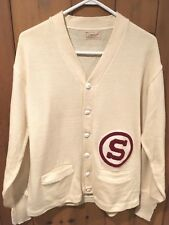 Vintage 1960s Stanford Cardinal Varsity Letterman Cardigan Sweater by Whiting
