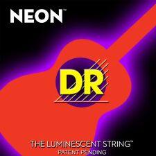 DR neon noa-11 ARANCIO FLUO spazioso / Fluorescente ACUSTICA CHITARRA corde 11-50