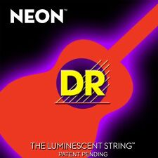 DR NEON NOA-11 Neon Orange Luminescent/Fluorescent Acoustic Guitar strings 11-50