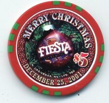 "LAS VEGAS FIESTA 2001 CHRISTMAS  CASINO CHIP    ""BRAND NEW CONDITION"""