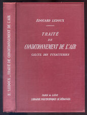EDOUARD LEDOUX, TRAITÉ DE CONDITIONNEMENT DE L'AIR, CALCUL DES TUYAUTERIES