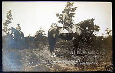 Pine Camp NY~1910 GENERAL GRANT WATCHING TROOPS~ RPPC