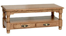 #8865 Solid Oak Country Trend Coffee Table